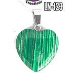 Malachite Heart pendant  Genuine