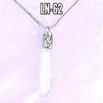 Milky Quartz Pendulum Wand Necklace. (925 silver) (6)