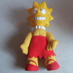 The Simpsons  Semi plush/Vinyl Lisa Simpson 8 inch vgc (1)