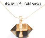 Tiger's Eye twin vogel wand nugget