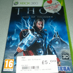 XBOX 360 Thor God of thunder  game boxed complete