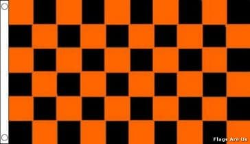 Black & Orange Check