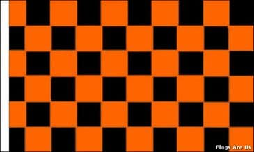Black & Orange Check  (Sleeved)