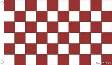 Maroon & White Check