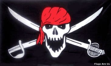 Pirate Red Head Wrap