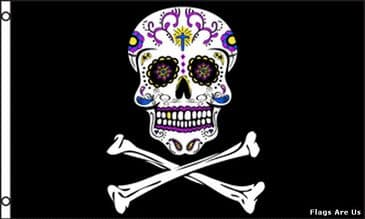 Pirate Sugar Skull and Crossbones
