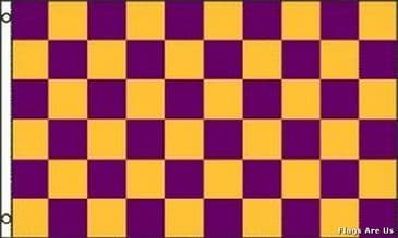 Purple & Gold Check