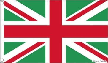 Union Jack  (Green & Red)