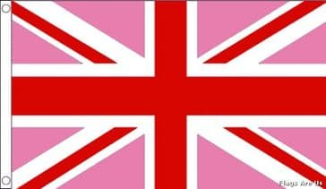 Union Jack  (Pink & Red)