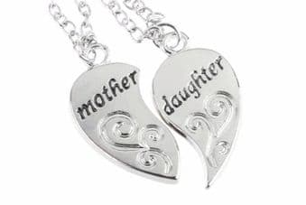 Mother and Daughter Pendant Duo