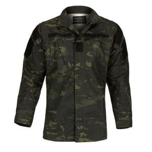 Alpha Airsoft Army Style BDU Tactical Shirt Black Night Camo