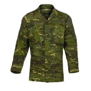Alpha Airsoft Army Style BDU Tactical Shirt Woodland Camo