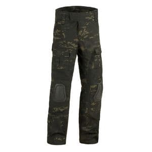 Alpha Army Style Combat Tactical Trousers with Knee Pads Black Night Camo