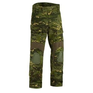 Alpha Army Style Combat Tactical Trousers with Knee Pads Woodland Camo