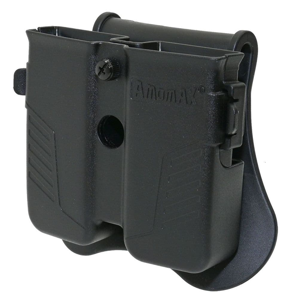 Amomax Double Pistol Magazine Pouch Black P-09 M9 SP-01 1911 226 #AM-MPU
