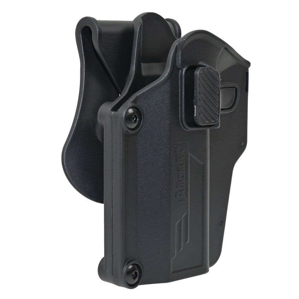 Amomax Per-Fit Universal Holster Black Left Handed G-Series M9 Taurus CZ #AM-UHL