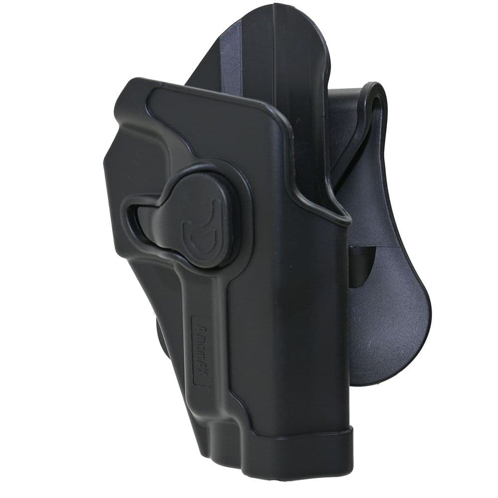 Amomax Retention Holster P226 / 220 Series R/H Black Airsoft TM WE KJ #AM-S226G2