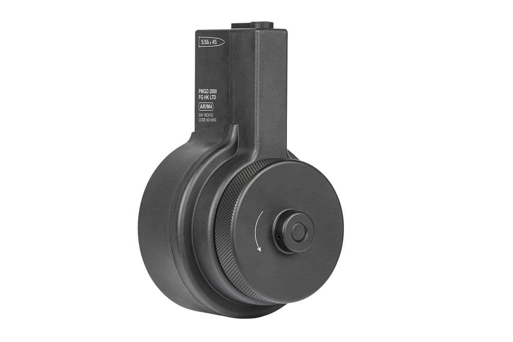 Ares Airsoft AR Style M-Series Drum Magazine 2150 Rd Black 6mm bb's MAG-043