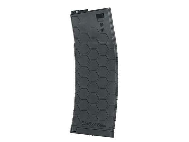 BattleAxe Airsoft M Series P-Mag Magazine 450 Rd Black bb's 6mm M4 #2307