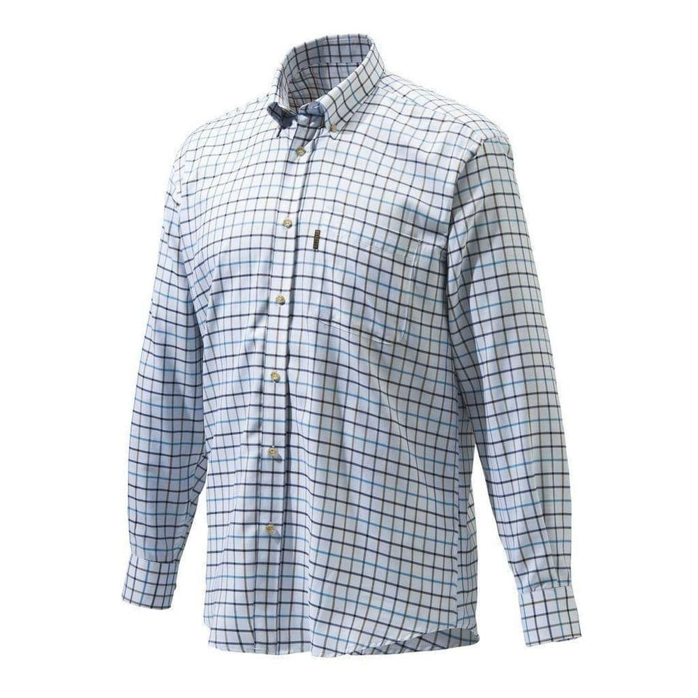 BeBeretta Classic Check Shirt White Black Brown