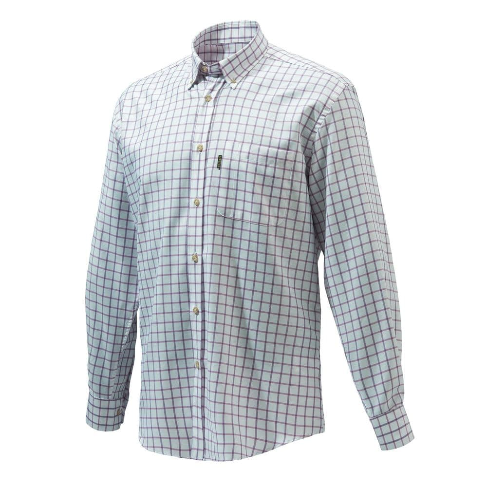 Beretta Classic Shirt White Pink Check Country Wear Stylish #LU321-40134