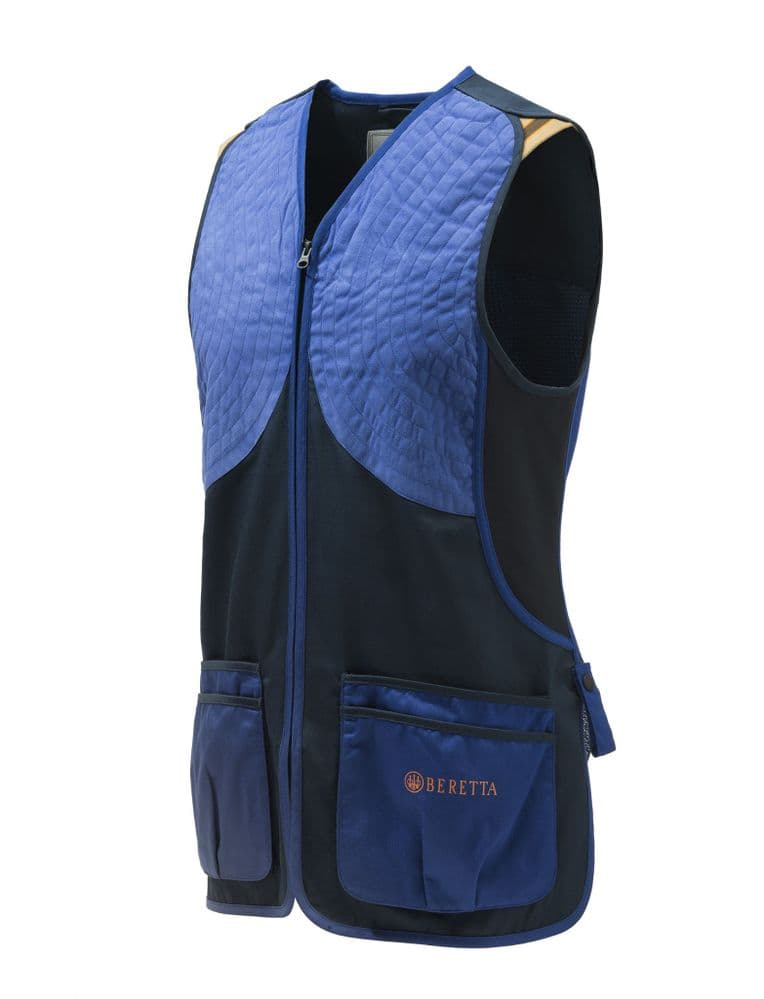 Beretta DT11 Ambidextrous Shooting Skeet Vest Blue Navy Trap Clays #GT063