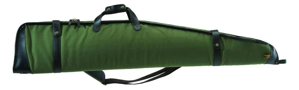 Beretta Terrain Shooting Rifle Weapon Carry Case Green Leather Straps FO02AT