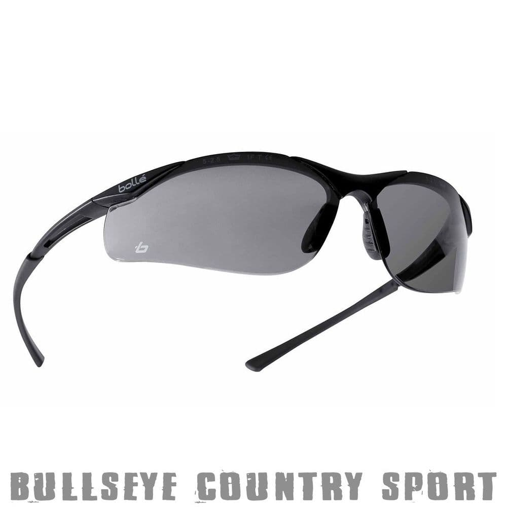 Bolle Contour Safety Glasses Smoke Lense Shooting Airsoft Fishing CONTPSF