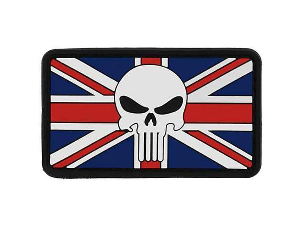 Cobra Airsoft Rubber Moral Patch Flag Union Jack With Skull