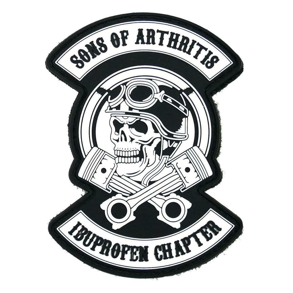 Cobra Airsoft Rubber Moral Patch Sons of Arthritis Ibuprofen Chapter