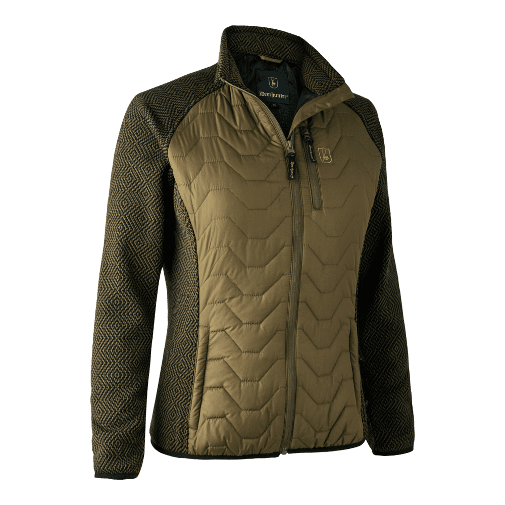 Deerhunter Lady Beth Padded Jacket with knit Arms Dark Olive Country Wear