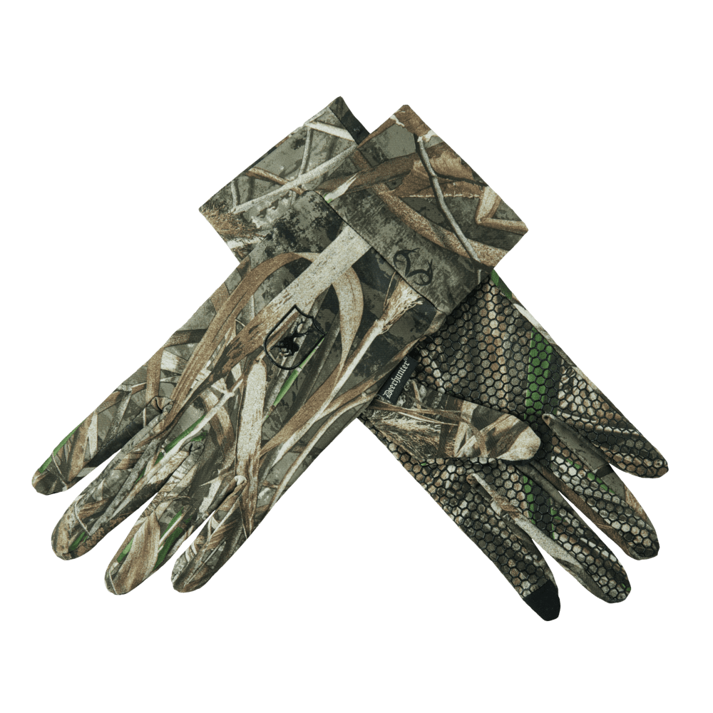 Deerhunter MAX 5 Camo Gloves With Silicone Grip Dots Hunt Shoot Photography