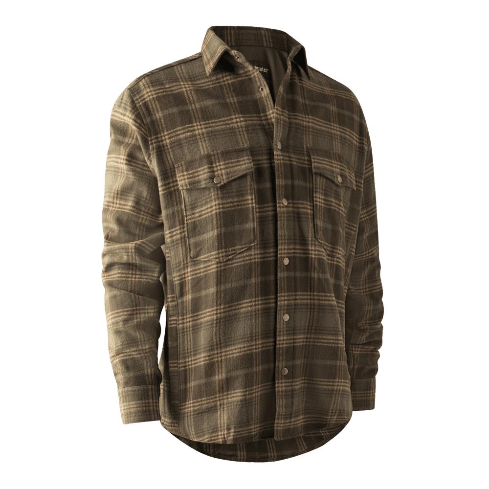 Deerhunter Noah Over Shirt With Stormliner Green Check Heavy Warm Country Style