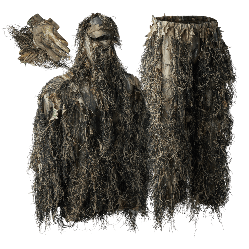 Deerhunter Sneaky Ghillie Suit Pull-Over Set With Gloves Hunt Shoot Airsoft