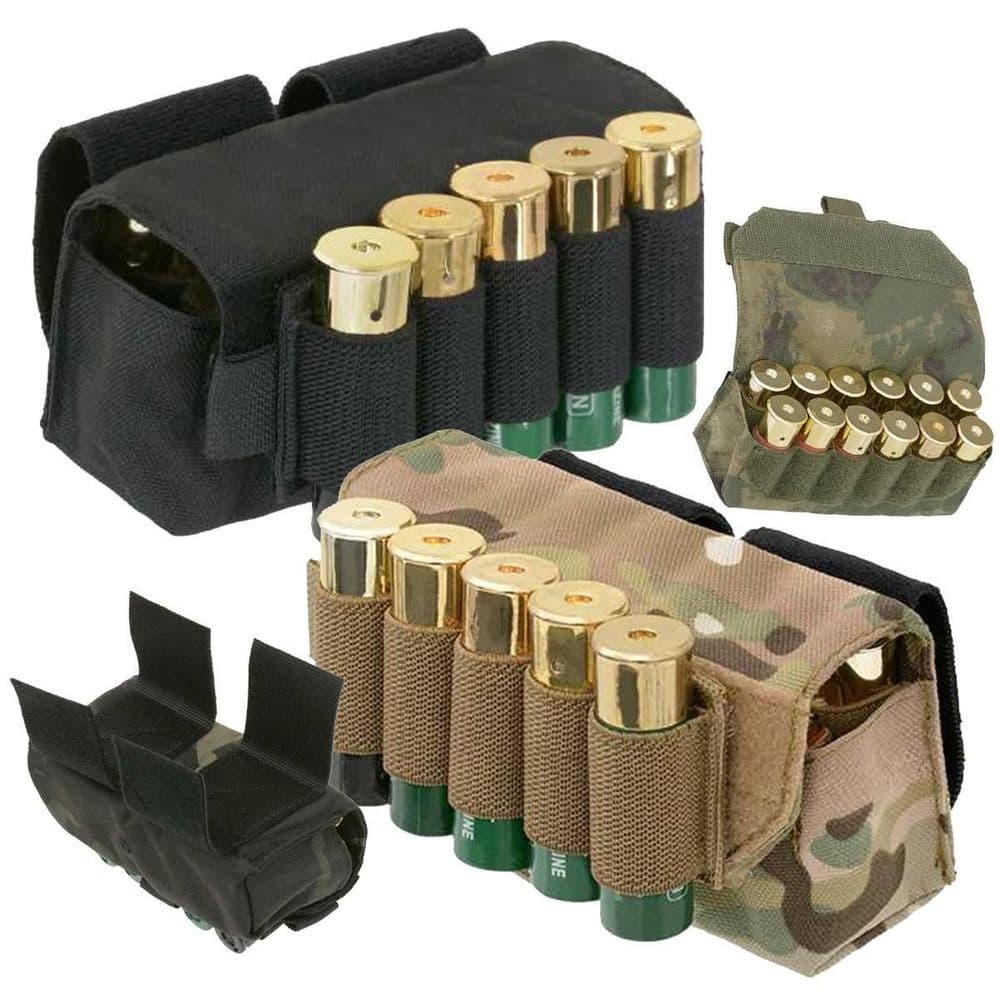 Fields Airsoft Belt Mounted Shot Gun Cartridge Shell Pouch Holds 17 F3185