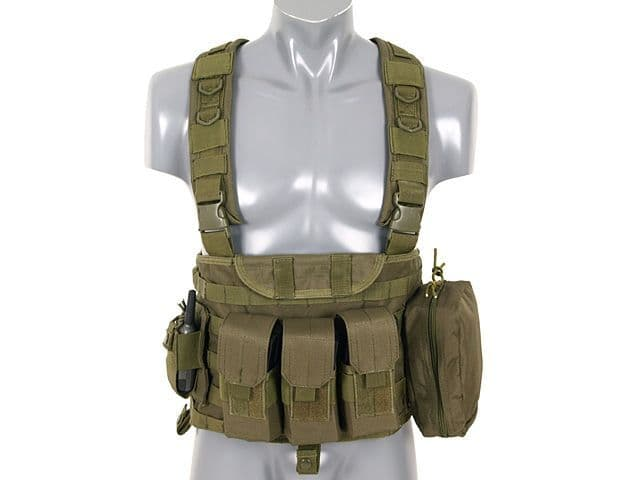 Fields Airsoft Recon Commando Molle Chest Rig Harness Green