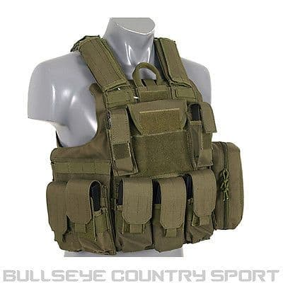 Fields Tactical Combat Vest Fully Loaded Olive Green