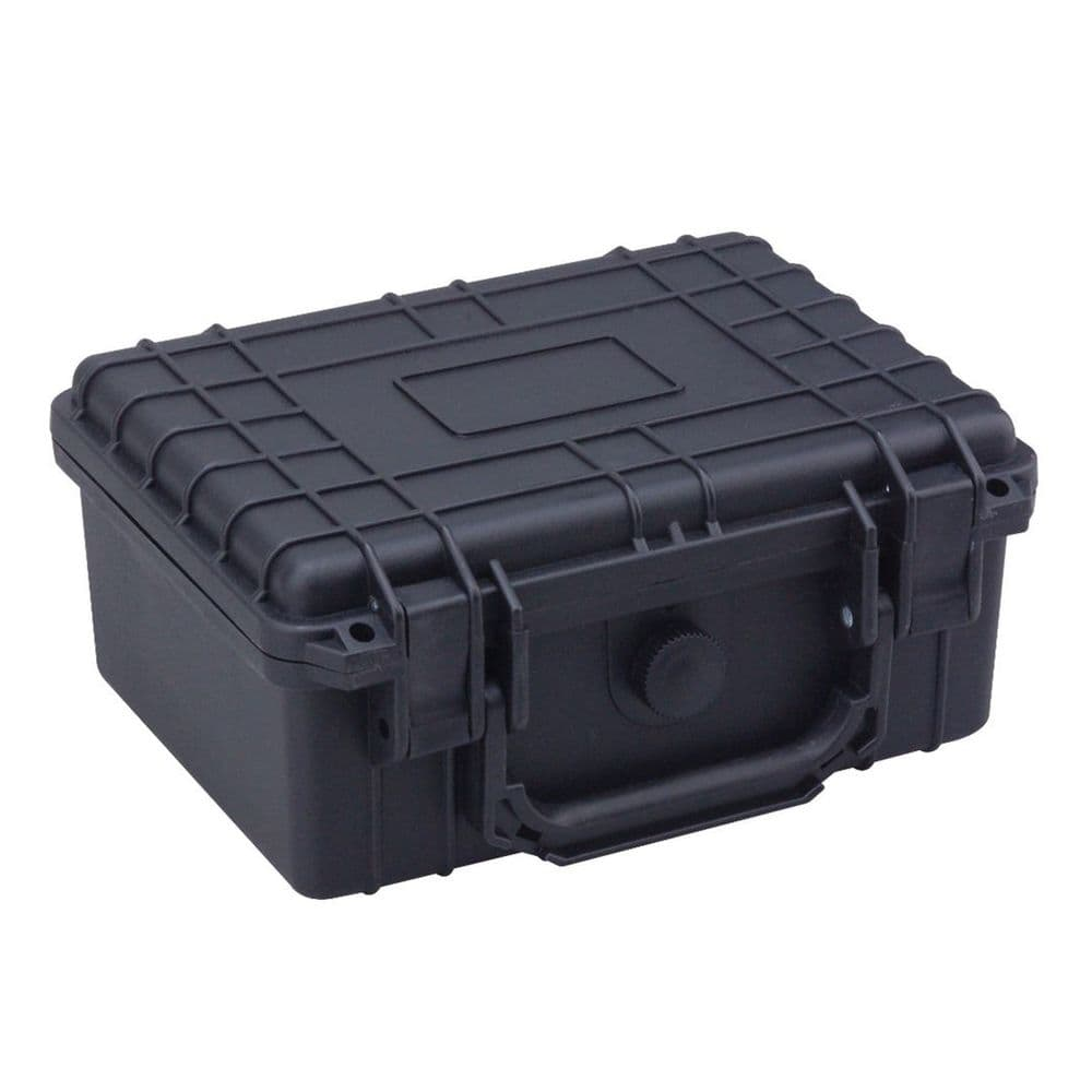 FOT Black Storage Hard Case Waterproof IP55 Small 22X18X10 Pistol Camera #960