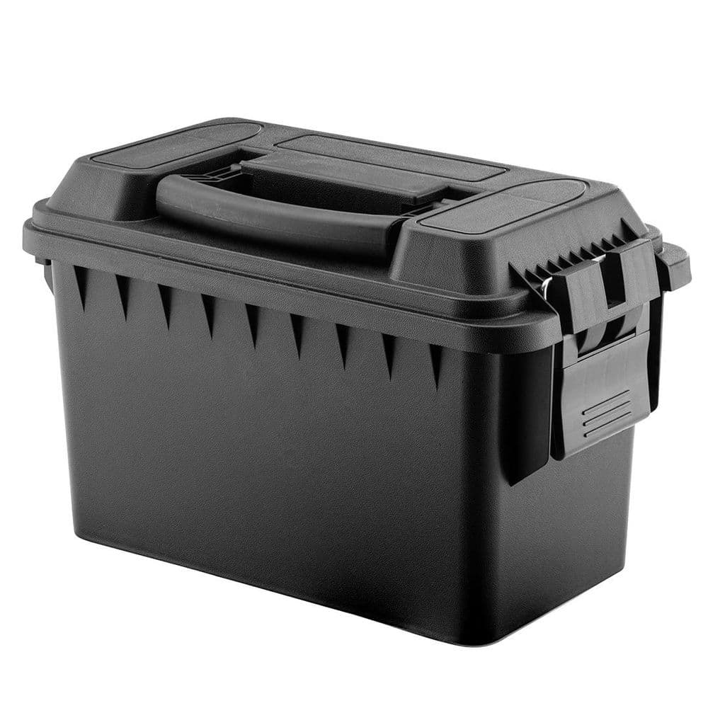 FOT Polymer Ammo Range Box Case Cal. 50 Black 33x18x25 Airsoft Carry #954