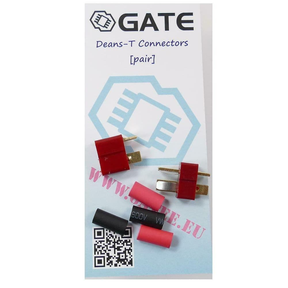 GATE Deans T-Plug Connectors with Shrinkies