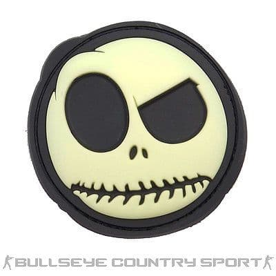 GLOW IN THE DARK SMILEY FACE BIG NIGHTMARE RUBBER PATCH AIRSOFT