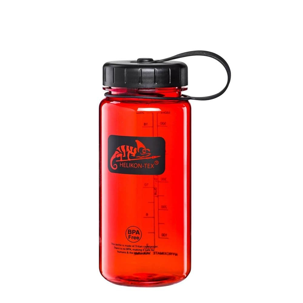 Helikon Tritan Water Bottle Wide 550ml Red Sports Airsoft Range WM5-TT-2501A