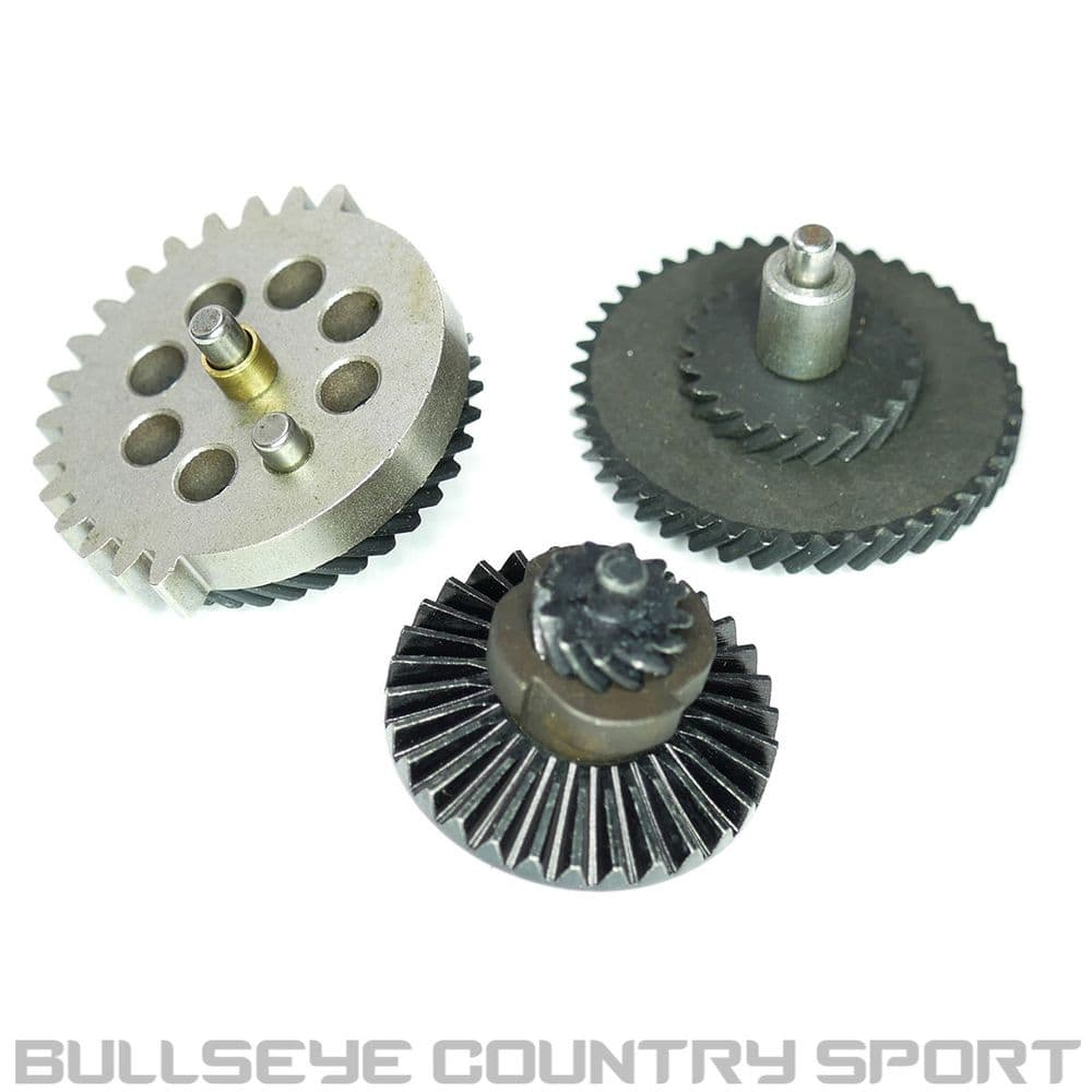 ICS AIRSOFT UPGRADED STEEL HELICAL GEAR SET HARDENED MC-108 LOW NOISE