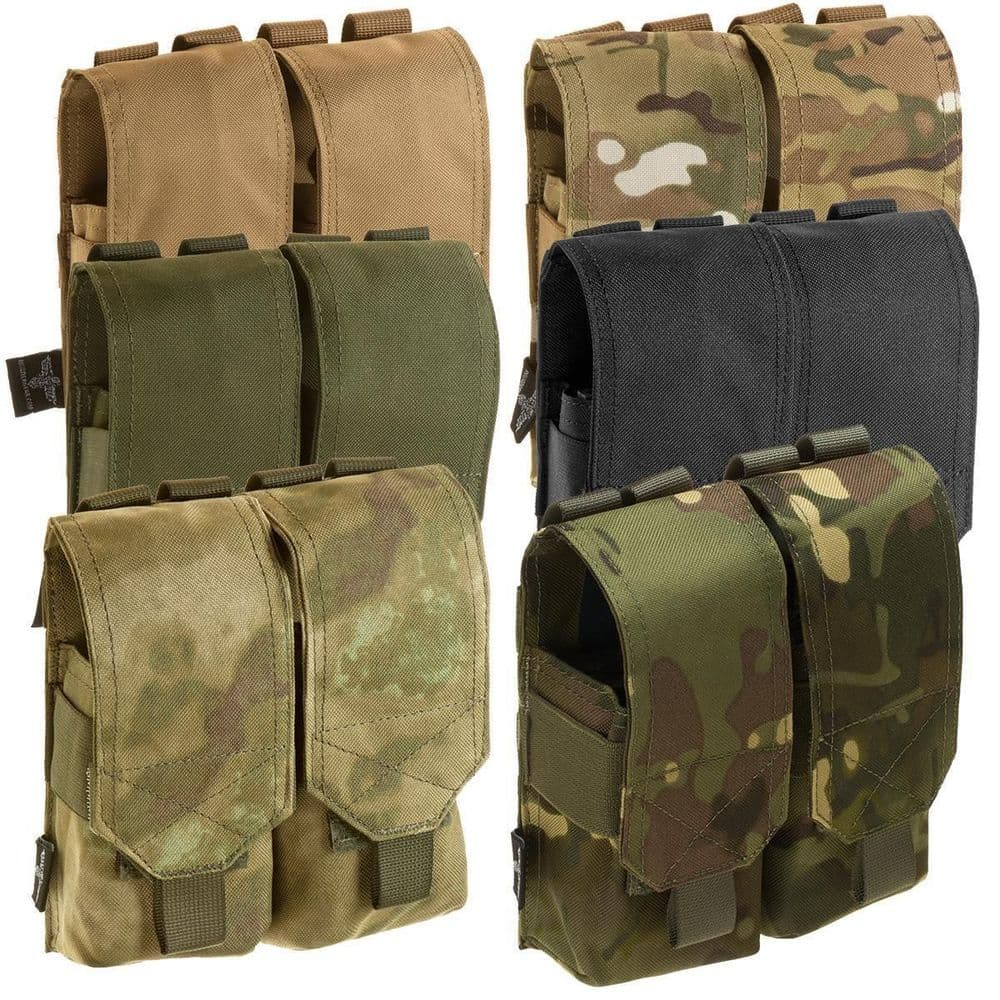 Invader Gear Airsoft 5.56 M-Series Closed Molle Double Mag Pouch Softair