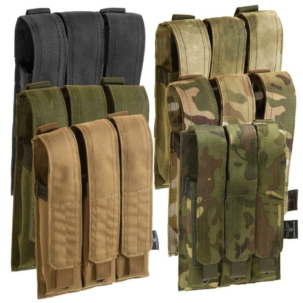Invader Gear Airsoft Triple Molle Mp5 Magazine Pouch