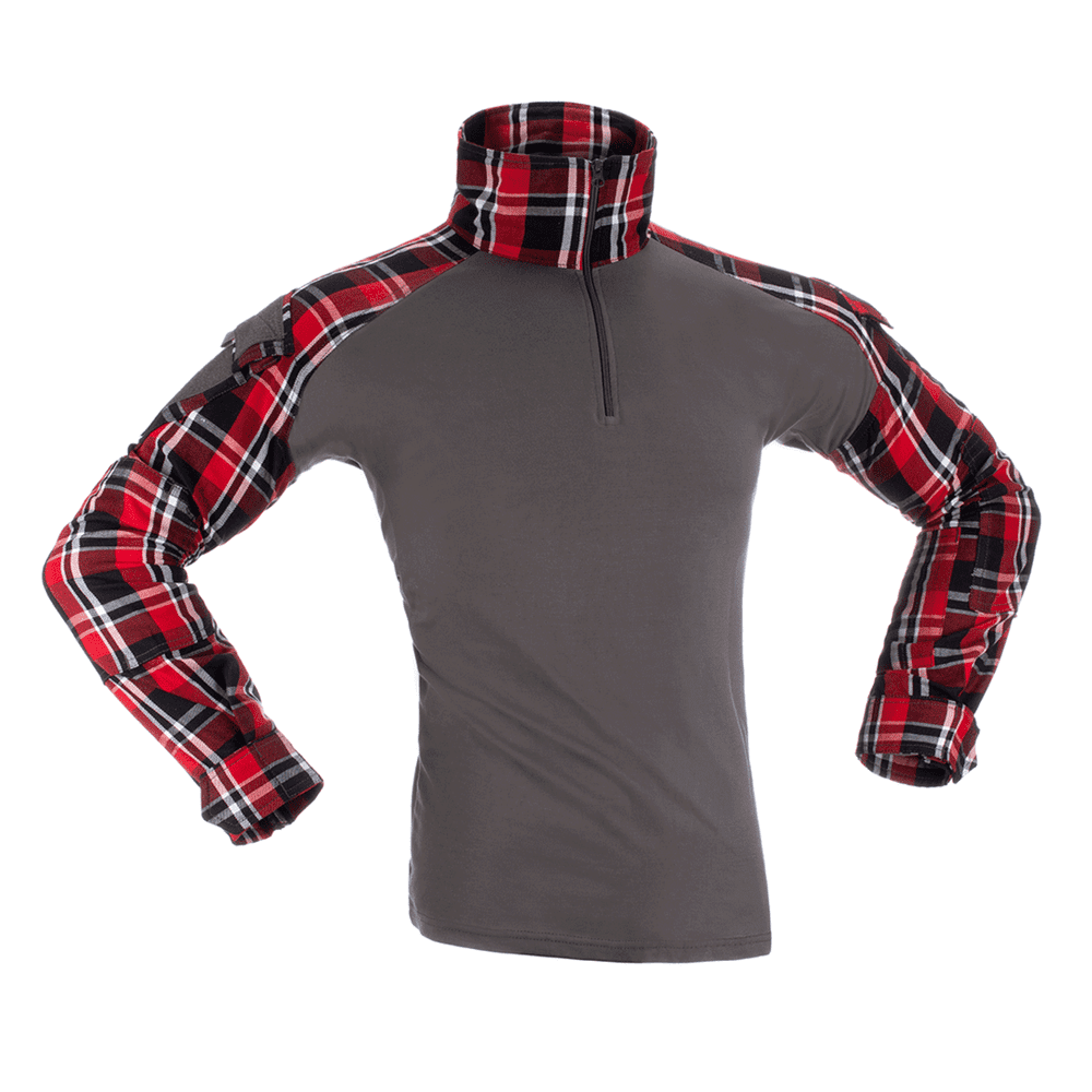 Invader Gear Flannel UBACS Combat Shirt Red /Grey