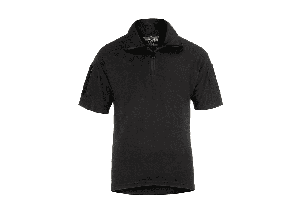 Invader Gear Short Sleeved UBACS Combat Shirt Black Airsoft Army Style