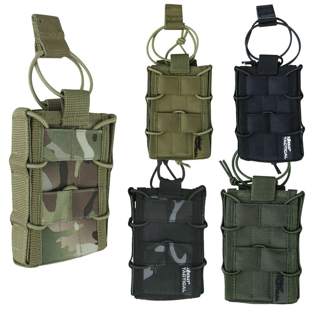 Kombat Delta Single Open-top QR Molle Mag Magazine Pouch M-Series