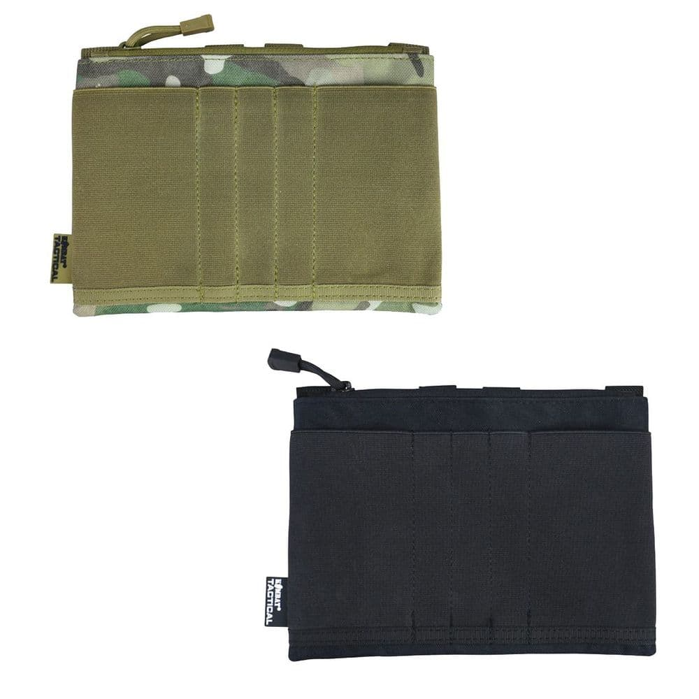 Kombat Guardian Admin Utility Panel Molle Army Airsoft Stretch Pouch