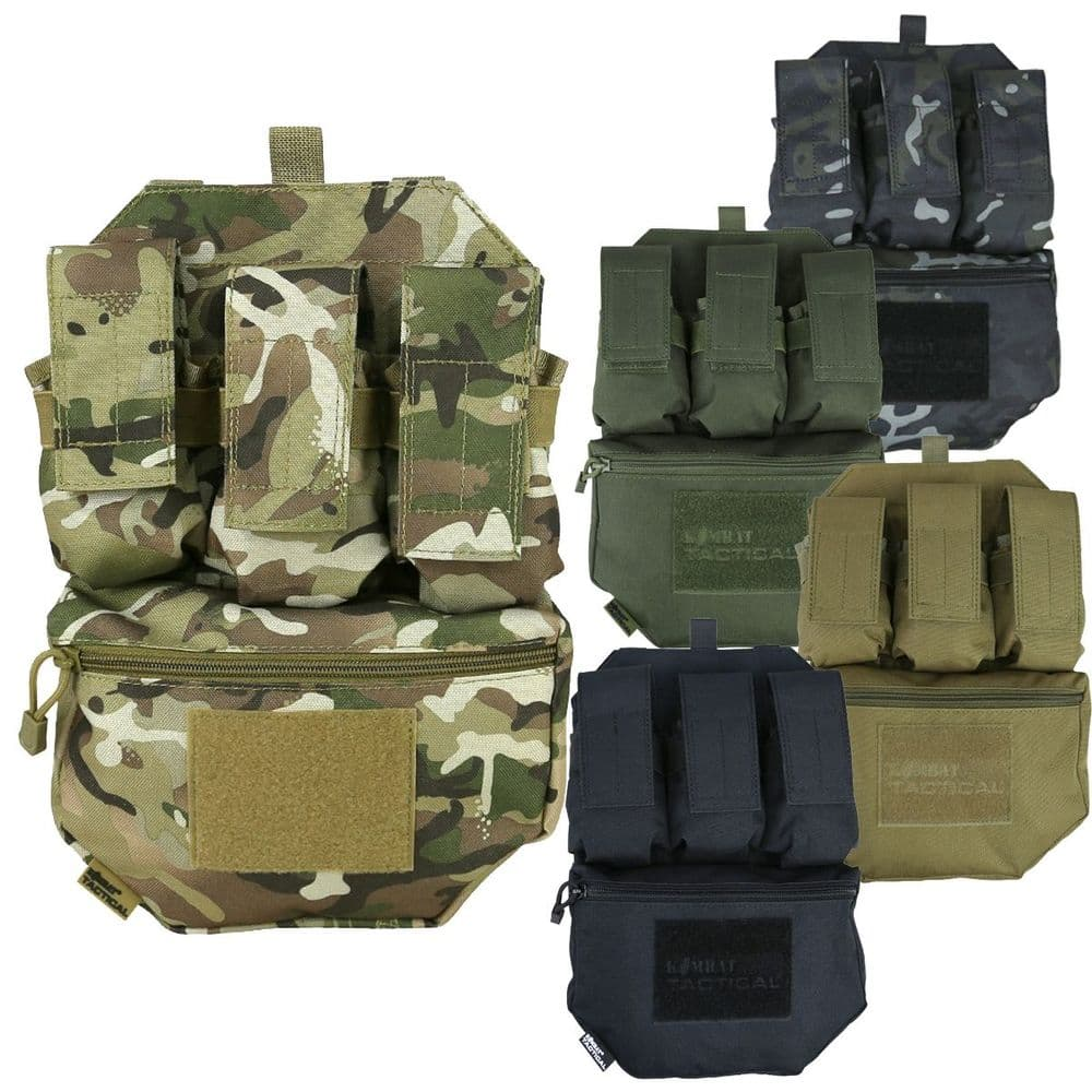 Kombat Guardian Assault Panel Magazine & Scrote Pouch Molle Airsoft Vest